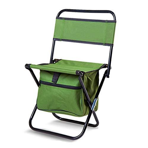 GJX Tumbonas Plegable Sillas De Camping con Bolsa De Transporte Ligero Al Aire Libre Portátil La Pesca Playa Asiento, Verde (Size : S)