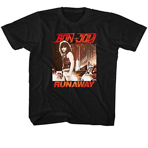 American Classics Banda de rock bon jovi jóvenes fugitivos camiseta grande para niños Pequeño (Joven) Negro