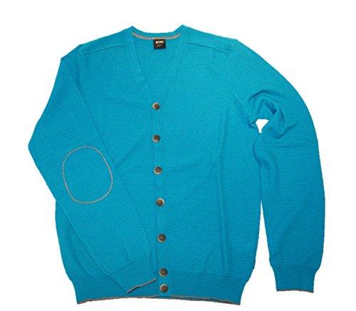 BOSS BLACK Veste en tricot Gerson moderne Essential couleur turquoise 446 - Turquoise -