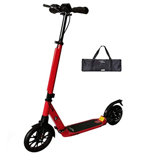 Buy Discount ZAQ Light Weight Adult City Kick Scooter with Disc Hand and Large Wheels, Comfort Suspe...