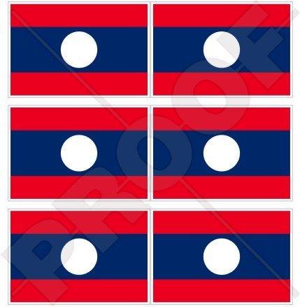 LAOS Vlag Lao Democratische Volksrepubliek, Laotiaanse ASIA 40mm (1,6