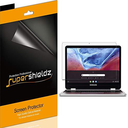 (3 Pack) Supershieldz Designed for Samsung Chromebook Plus/Chromebook Plus V2 12.2 inch (XE520QAB, XE521QAB) Screen Protector, High Definition Clear Shield (PET)