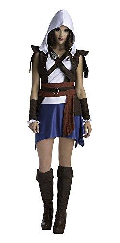 LF Producten Pte. Ltd Assassins Creed Edward Kenway klassieke vrouwen mooie jurk kostuum Assassin's Creed Sassy Edward klassiek kostuum L multi