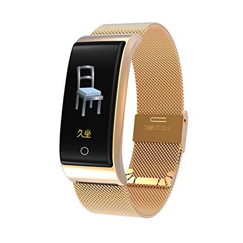 Smart Watch F4 Pulsera Inteligente Tarifa Cardíaca Pulso Presión Arterial Monitor De Deportes Reloj De Deportes Impermeable Fitness Pulsera Inteligente,Oro