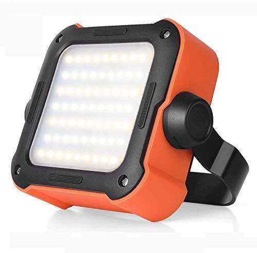 Led Strahler Akku, Arbeitsleuchte Led Akku Campinglampe mit 10000mAh Powerbank USB Wiederaufladbare Tragbar Outdoor Flutlicht, mit 15 Lichtmodi für Stromausfällen, Camping, Werkstatt, Notfall usw