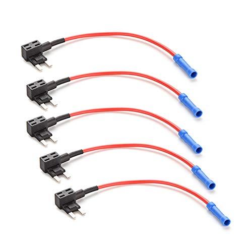 LUOYJ Kfz-Sicherungseinsatz-luo 5pc Mini ATM Sicherung Adapter Hahn Zweikreisig Adapter-Halter for Auto-LKW-Auto Kfz-Versicherung Box Extractor