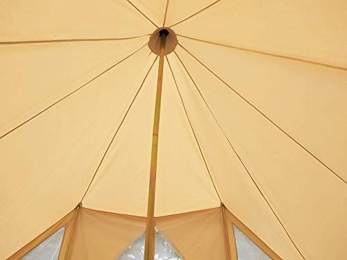 Latourreg Cotton Canvas 5X4M Touareg Bell Tent Square Glamping Safari Tent with Double Door. 5