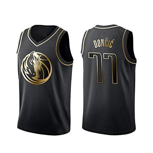 Luka Doncic, Basket Jersey Maglia Canotta Dallas Mavericks 77, Un Nuovo Tessuto Ricamato, Stile di Abbigliamento Sportivo