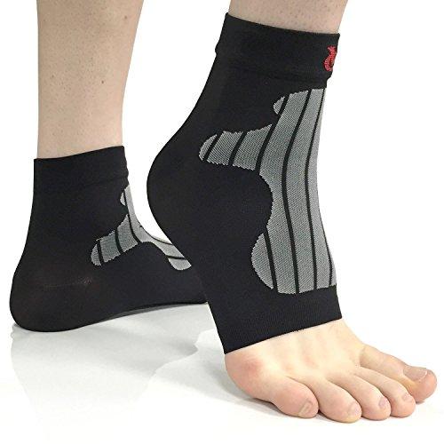 VeloChampion Soportes/Calentadores de Compresion para Tobillos y pies (XL, Black)(Par) Ankle