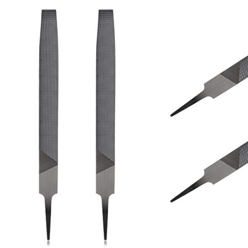 2 Pieces Rectangular Cut Axe File Mill Smooth Cut File Carded Hardened Steel File Flat for Sharpening Dull, Blunt or Tired Edges