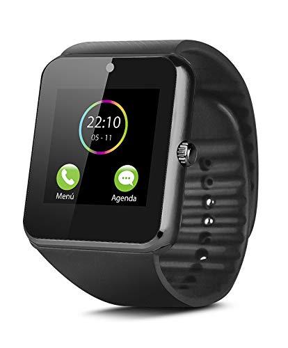 Smartek Smartwatch Reloj Inteligente con SIM, Pulsera de Actividad, Reloj de Fitness con Podometro SW-832 (Negro)