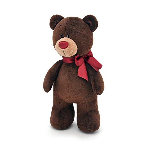 Orange Toys 1/002/35 – Ours Choco Debout, Doudou pour Adultes et Enfants dans Emballage Cadeau, 35 cm Marron/Rouge
