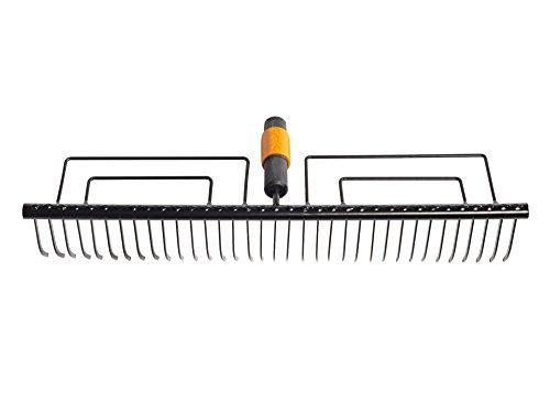 Fiskars Rastrillo para césped con 35 dientes, Largo: 57 cm, Negro, 1000656