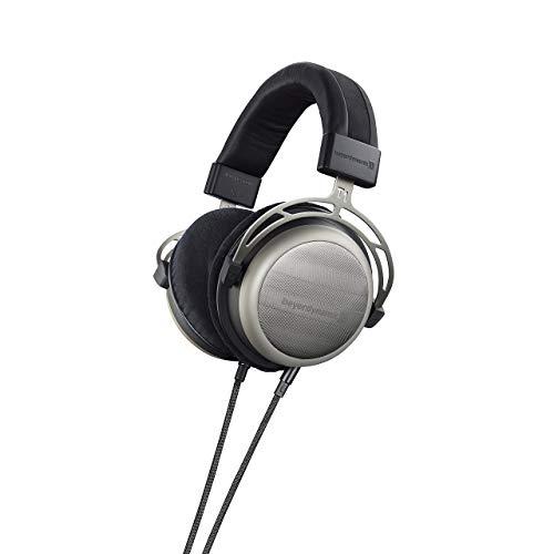 beyerdynamic T1 2nd Generation Audiophile Stereo Headphones with Dynamic Semi-Open Design (Silver) (Renewed)