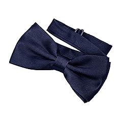 Idea Regalo - DonDon Papillon Uomo blu scuro con gancio - già annodato e regolabile
