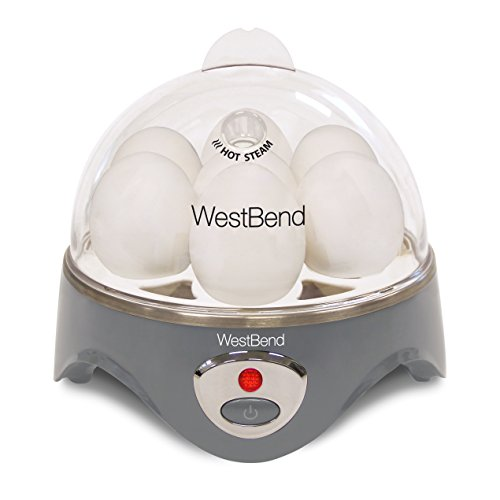 West Bend Automatic Electric Cooker, Hard-or Soft-Cook 7 or 2 Poached or Scrambled,...