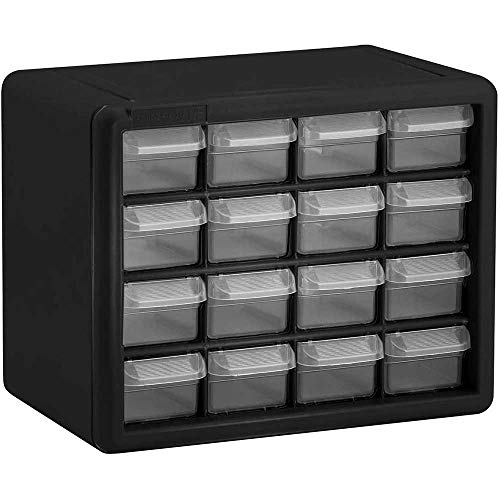 Plastic Parts Storage Hardware and Craft Cabinet, Black, 1-Pack (10-1/2 x 8-1/2 x 6-1/2 Inches)