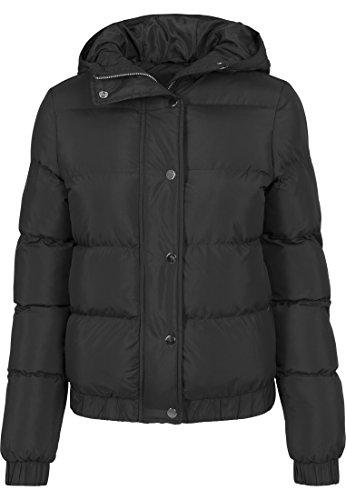 Urban Classics Damen Winterjacke Ladies Hooded Puffer Jacket, gefütterte Jacke für Herbst und Winter mit Kapuze, Daunenjacke - Farbe black, Größe XL