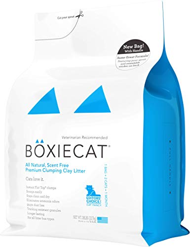 Boxiecat Premium Clumping Cat Litter - Scent Free - Clay Formula - Ultra Clean Litter Box, Longer Lasting Odor Control, Hard Clumping Litter, 99.9% Dust Free