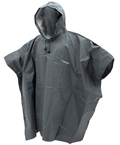 FROGG TOGGS Standard Ultra-Lite2 Waterproof Breathable Rain Poncho, Carbon Black, One Size