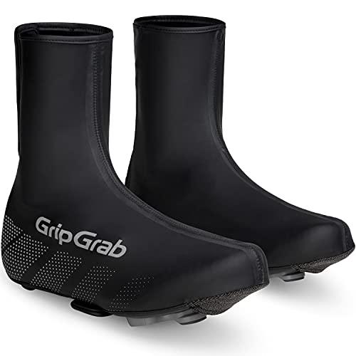 GripGrab Unisex– Erwachsene Ride wasserdichte Winddichte Fahrrad Regenüberschuhe Rennrad MTB Radsport Schuhüberzieher mit Klettverschluss Überschuhe, Schwarz, L (42/43)