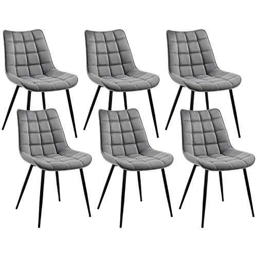 6 Modern Style Dining Chairs with Soft Cushion Now $221