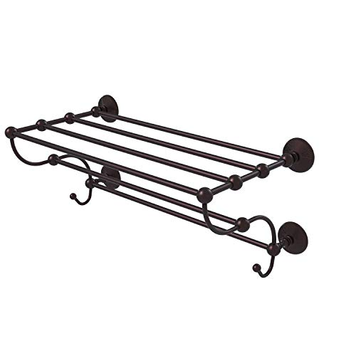 Allied Brass PMC-HTL/36-5 Prestige Monte Carlo Collection 36 Inch Train Rack Towel Shelf, Antique Bronze