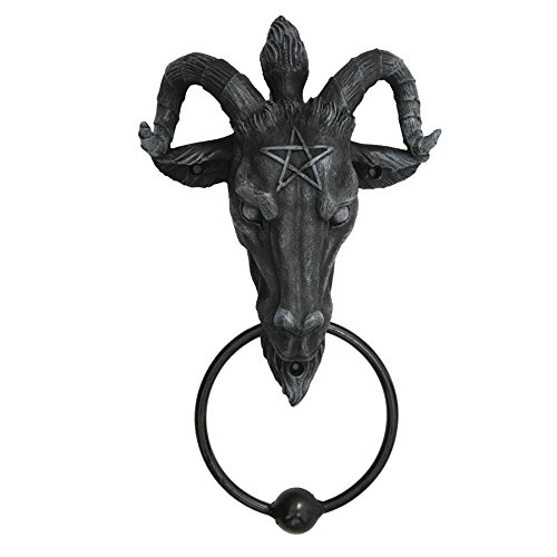 Türklopfer Baphomet Okkultismus Teufel Halloween Dekoration Deko Fantasy NN66