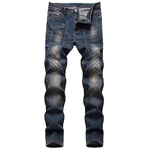 Jeans Homme Casual Hommes Jeans Solid Slim Fit Full Longueur Pantalon Crayon Plus Taille Denim Jeans Pour Hommes DéChiréS Pants MâLe