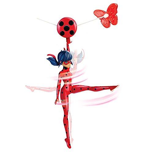Giochi Preziosi- Miraculous Zipline Ladybug Personaggio Deluxe con Funzione, Multicolore, 19 cm, MRA09300