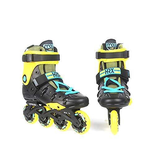Skates Erwachsene Männer und Frauen, Rollschuhe College-Studenten Inline-Rad Anfänger Lust Flache Schuhe Rollschuhe,C,45