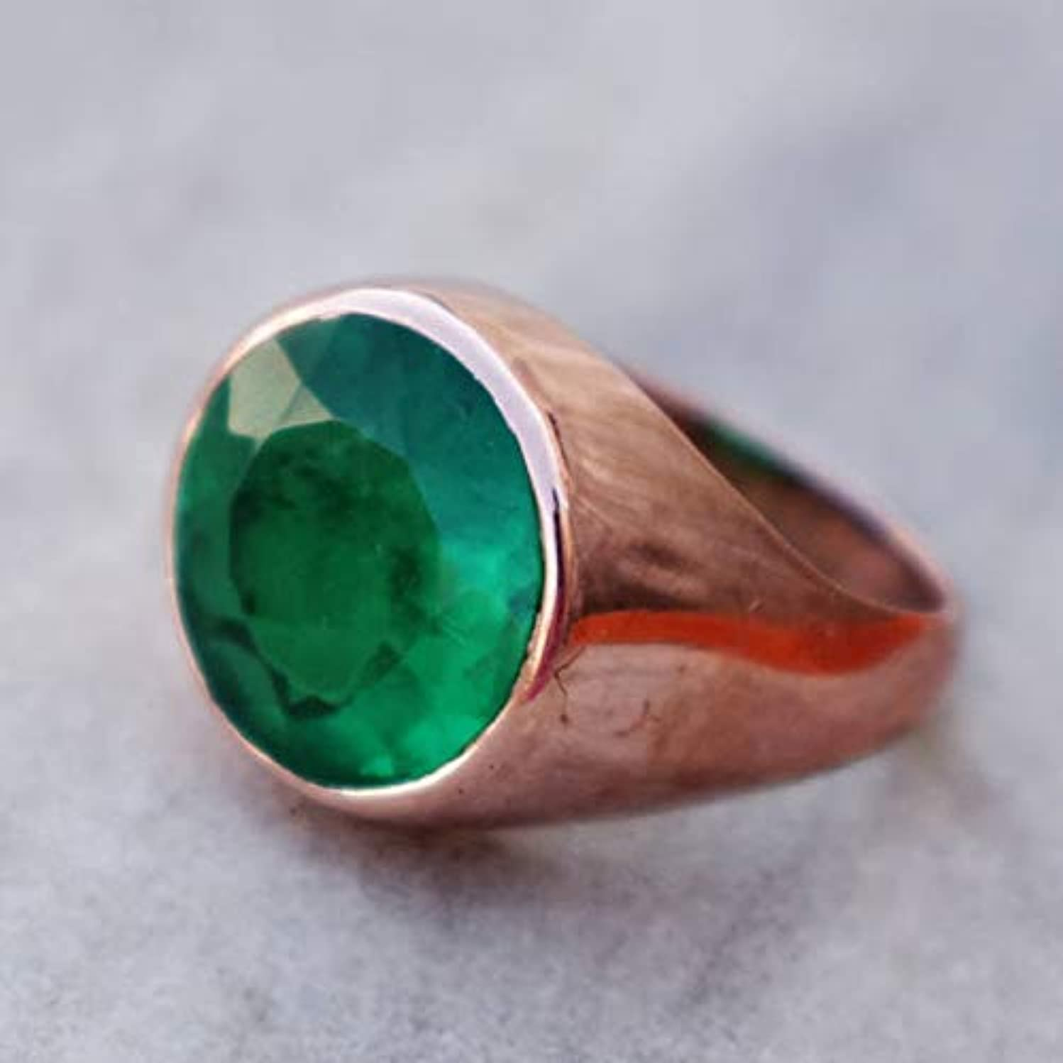 Men's Emerald Hydro Ring, 925 Sterling Silver Ring, Handmade Jewelry Ring, Unique Gift Ring, Beautiful Green Ring, Rose Gold Emerald Ring, Wedding Gift Jewelry