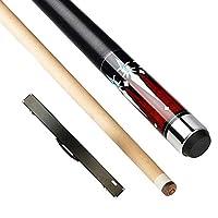 YJTQG 1/2プールキュー、58インチ19-21オズメープルウッドビリヤードプールキュー、13mmキューチップ付き、ホームスクールクラブ用/A/Pole box