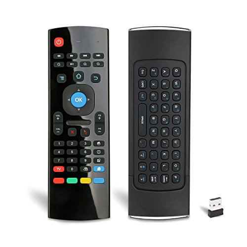Novanco Air Remote Mouse MX3 Pro, Mini Wireless Keyboard, Programmable IR Learning, Best for Kodi Android Smart TV Box OTT HTPC Streaming Media Player Raspberry pi