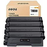 INKNI Compatible Toner Cartridge Replacement for Brother TN660 TN-660 TN630 for HL-L2380DW MFC-L2700DW HL-L2360DW HL-L2340DW MFC-L2740DW DCP-L2540DW HL-L2320D HL-L2300D MFC-L2685DW (Black, 4-Pack)