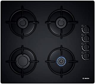 BOSCH POP6B6B10 4 Burner Black Ceramic Glass Gas Hob