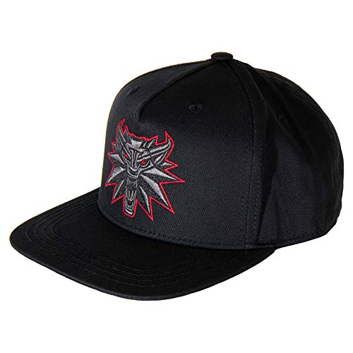 JINX The Witcher 3 Black Wolf Snapback Baseball Hat, Black, Adult Size