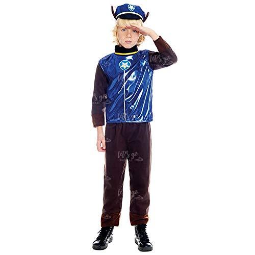 Disfraz Perro Policía Niño Bebé Police Dog【Tallas Infantiles de 1 a 9 años】[3-4 años] Disfraz Carnaval Personajes Perritos Profesiones Desfiles Teatro Actuaciones Regalo