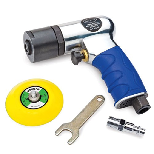 Eastwood 3 in. Pistol Grip Mini Air Sander Dual Action Sander Polisher for Auto Body Work Cabinets Furniture