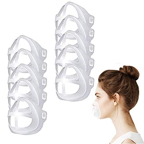 3D Cool Mask Bracket,LIUBUYT Protect Lipstick Lips,Internal Support Holder Frame Nose Breathing smoothly,DIY Face Mask Accessories(10Pcs) (Adult)
