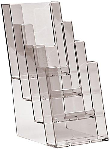 Taymar 4C110 - Expositor (con 5 compartimentos), transparente
