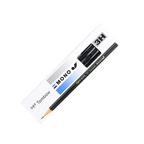トンボ鉛筆 鉛筆 MONO モノJ 3H 1ダース MONO-J3H