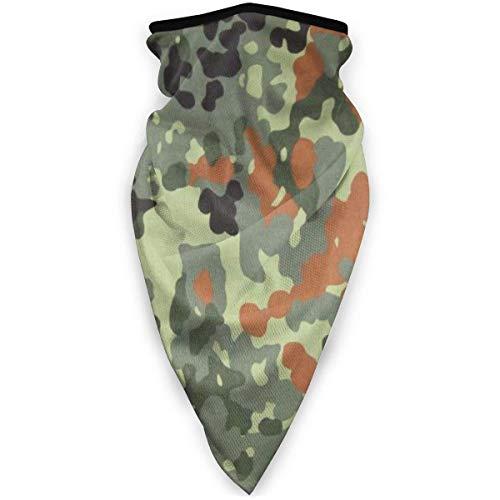 Bundeswehr Flecktarn Camo Gesicht Co_V-Er Mundschutz Unisex Nahtlose Wiederverwendbare Halsmanschette Staub Bandanas Kopfbedeckung