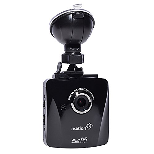 Ivation S18 Car Dash Cam 1080p HD Video & Audio Recorder, Wide Angle Multi-Glass Lens w/Infrared Filter, Motion Detection, G-Sensor, Low Light WDR/HDR Dashcam, Best Dashboard Camera for Car & Truck
