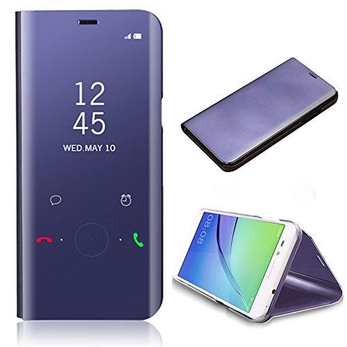 Funda para Samsung Galaxy A5 2017 Cover Case, CrazyLemon Espejo Standing Flip Cover con Kickstand y Función de Dormir Despertar Smart Cover PC + Cuero PU para Samsung Galaxy A5 2017 - Púrpura