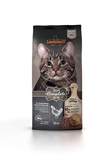 Leonardo Adult Complete 32/16 [15kg] Katzenfutter | Trockenfutter für Katzen | Alleinfuttermittel für ausgewachsene Katzen Aller Rassen ab 1 Jahr