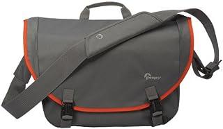 حقيبة ماسنجر جواز السفر من لوي برو، رمادي/برتقالي