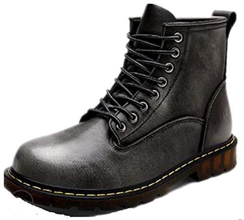 SHUQI , Herren Stiefel Schwarz Schwarz  38 EU, Grau - grau - Größe: 42 EU