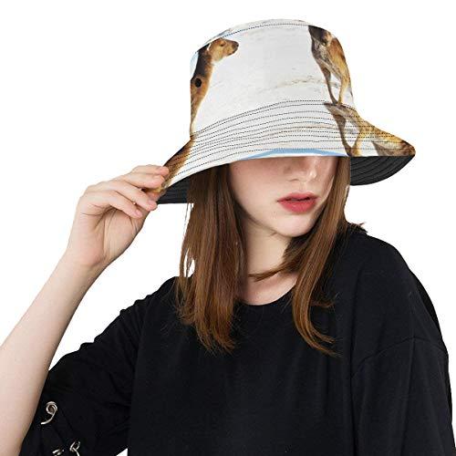 Sombrero de Pesca para niños Muchos Canguro de Primer Plano con colinas...