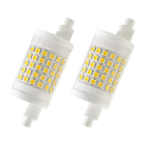 R7s LED Leuchtmittel, R7s LED 78mm Birne Dimmbar Lampe, 10W J78 J Typ 80W Halogen Glühlampen Ersatz, Warmweiß 3000K Linear Leuchtmittel, AC 230V, 1000LM, 360 Grad (2er-Pack)